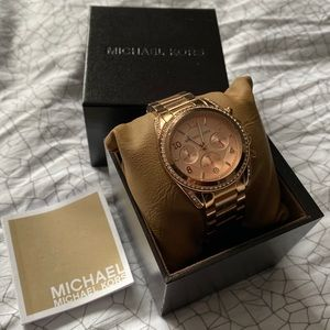 Michael Kors Rose Gold paved watch